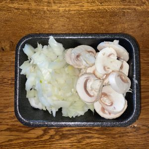 Chopped Onion & Sliced Mushroom